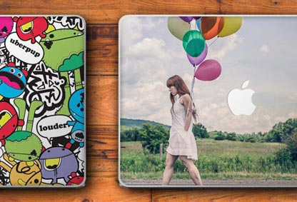 customised photo collage laptop skin gift