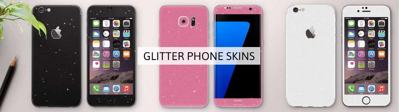 glitter phone skins