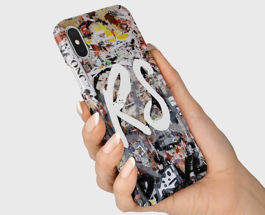 graffiti-initial-phone-case