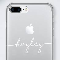 Personalised Clear Hard Back Phone Cases