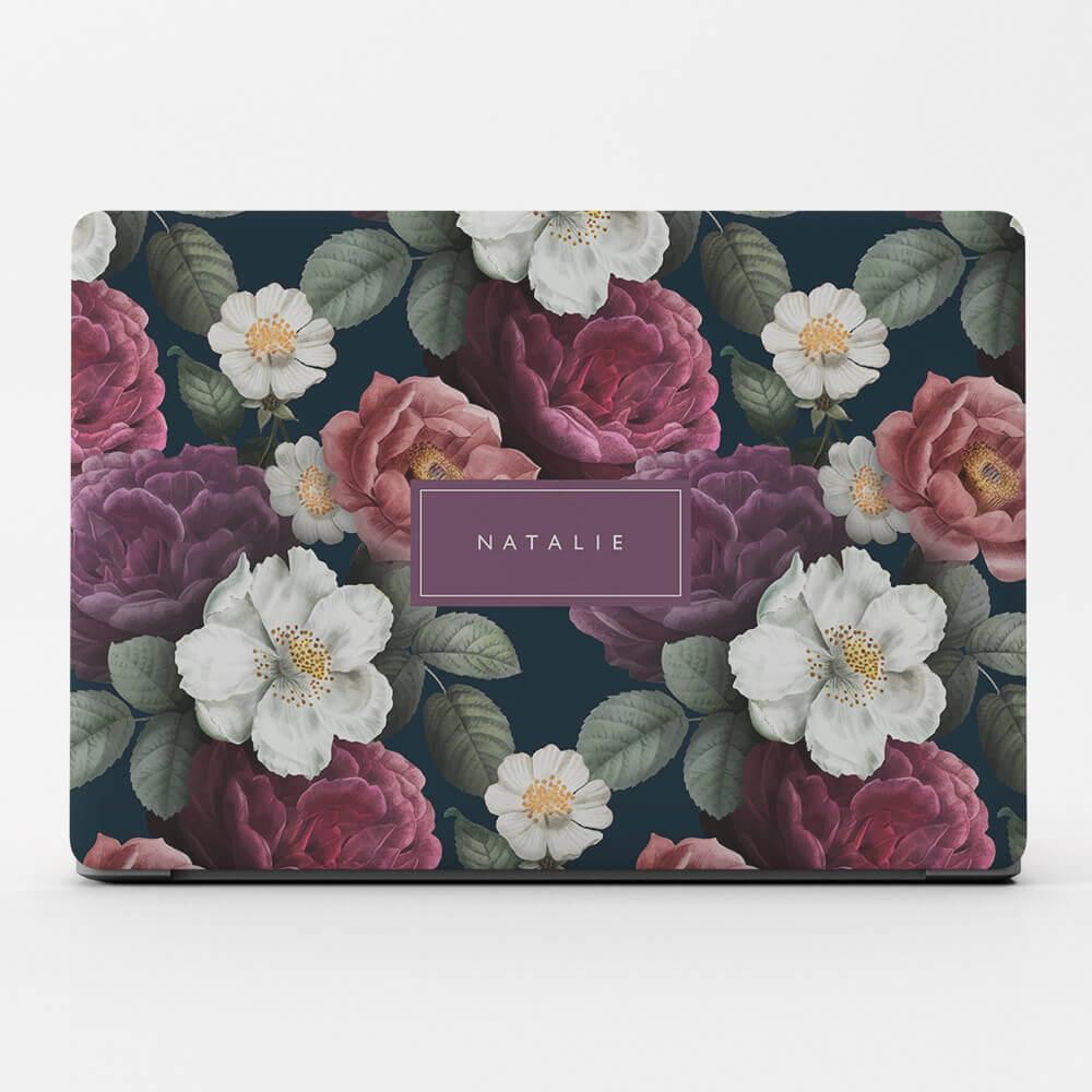 Flower wallet flip cover monogram custom personalized case for