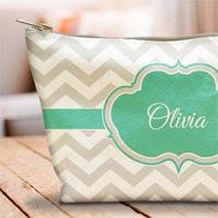 Cotton Canvas Makeup Bag
