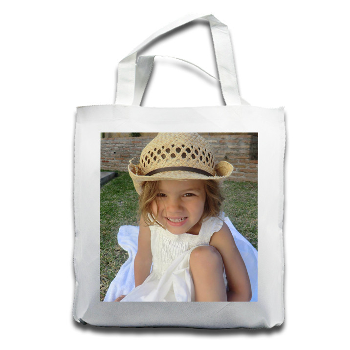 Canvas Tote Bag with Photo Panel