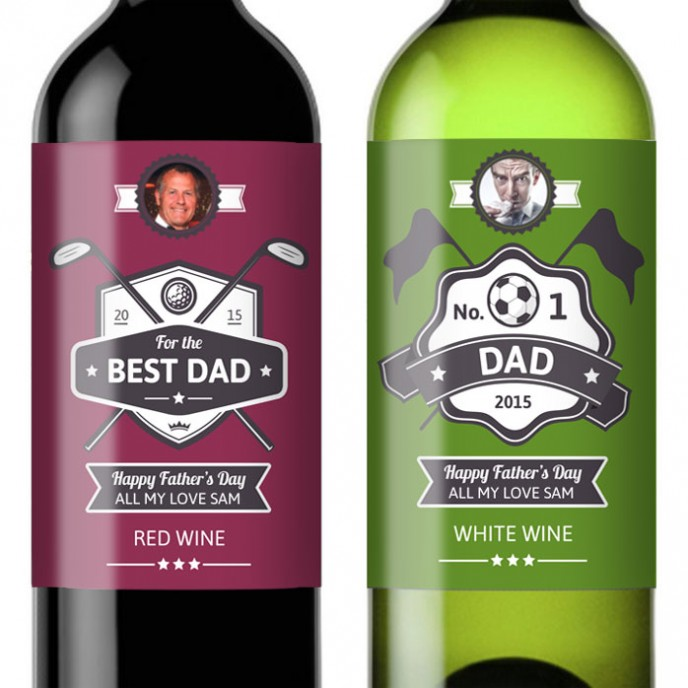 Fathers Day Drinks Labels