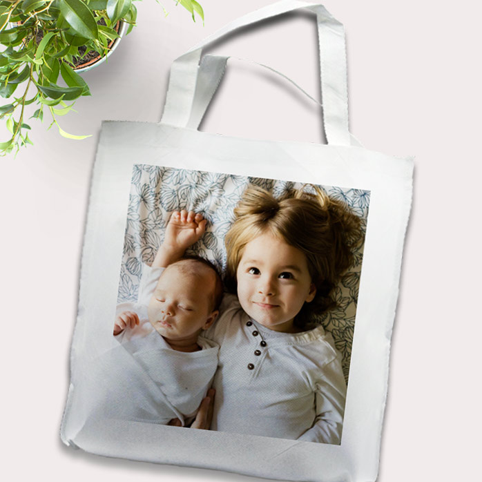 Canvas Tote Bag 38x40cm with photo panel 10870