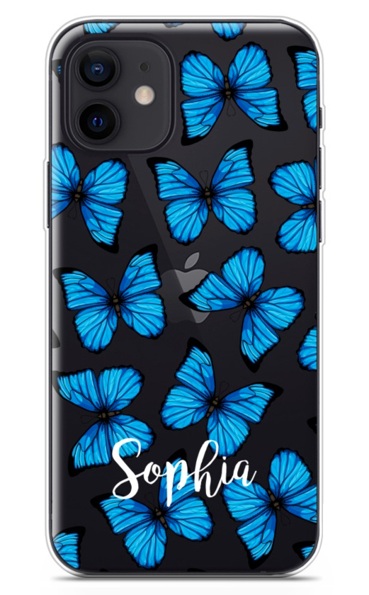 Blue Butterfly Clear 8777
