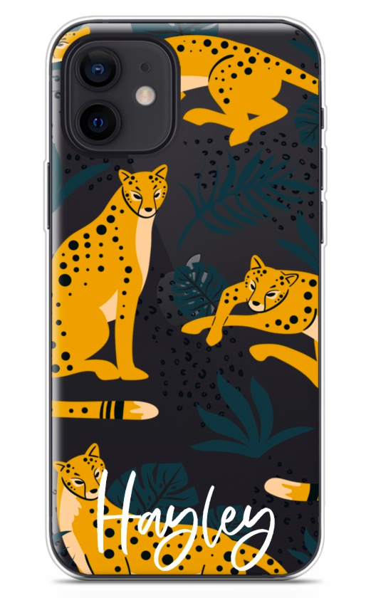 Yellow Leopard Clear 8759