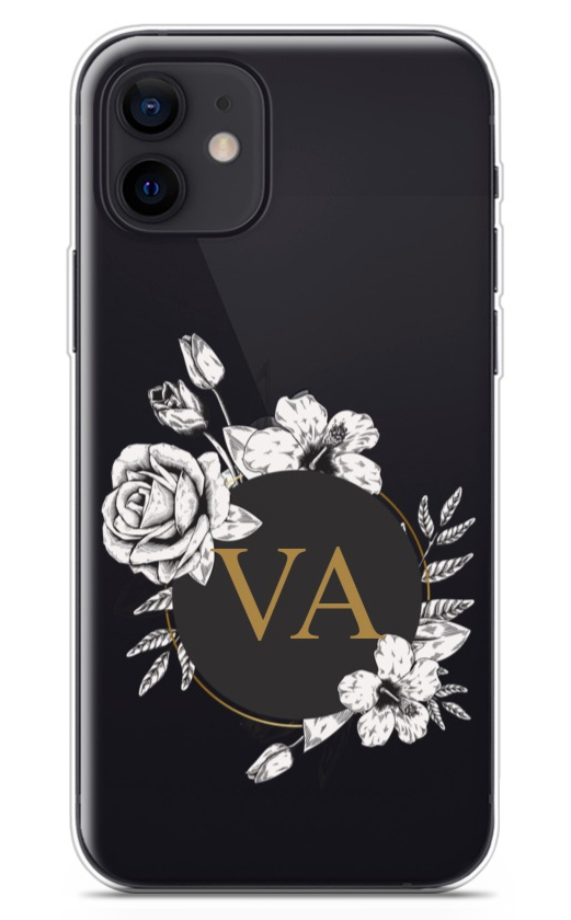 Floral Initials Clear 8785