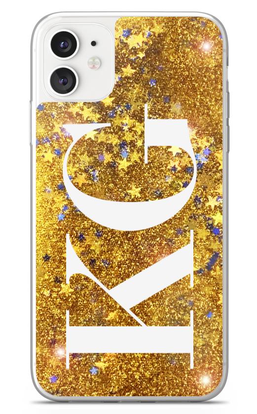 Vertical Initials Glitter 8794