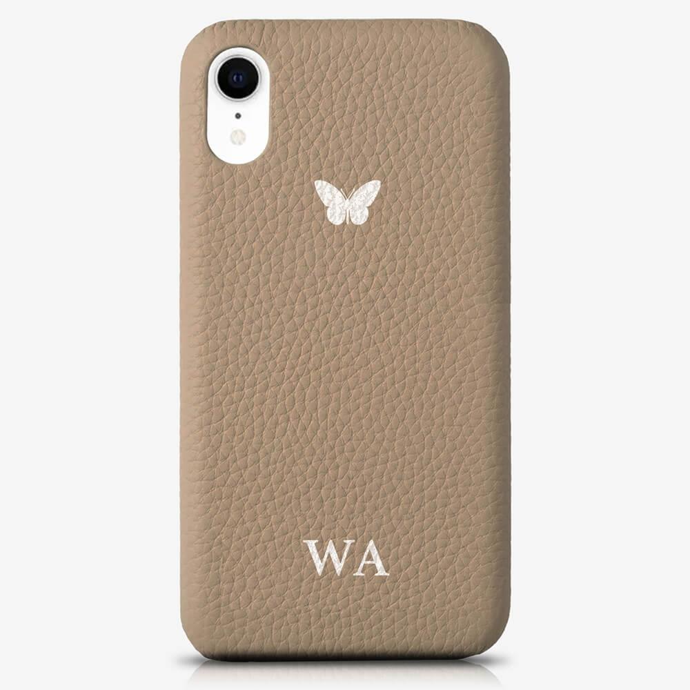 iPhone XR Genuine Leather Monogram Case