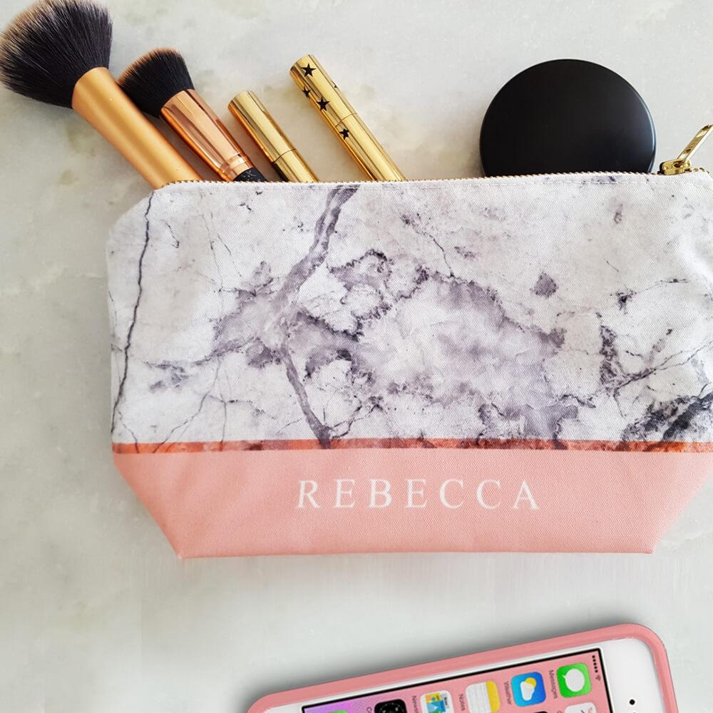 Cotton Canvas Cosmetic Makeup Bag