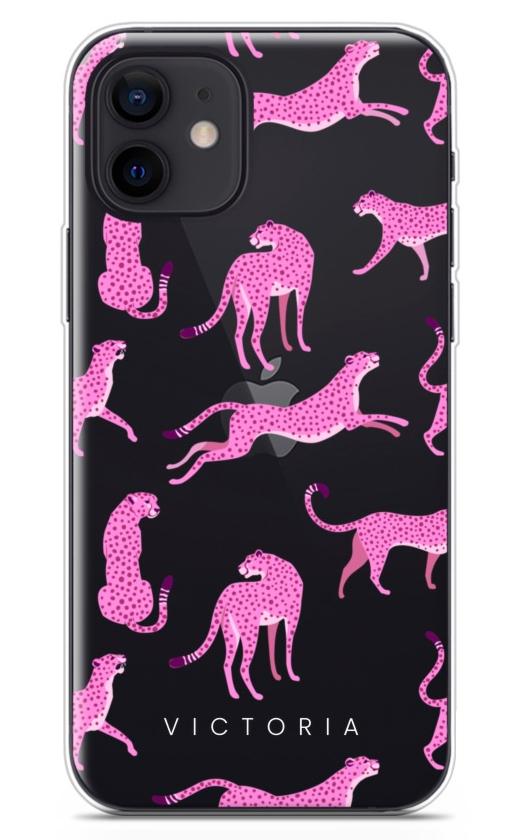 Pink Cheetah Clear 8770