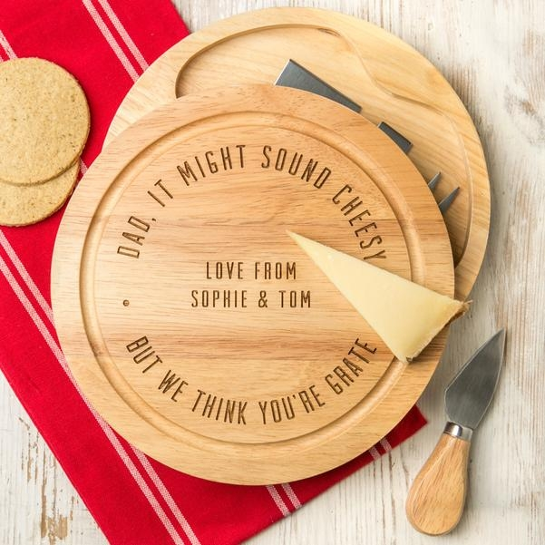Personalised Engraved Dad's Cheese Board Set 14790