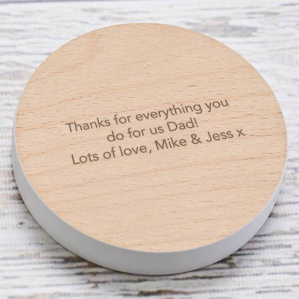 'Dad, You Are Tea-Riffic' Coaster For Fathers Day 13123