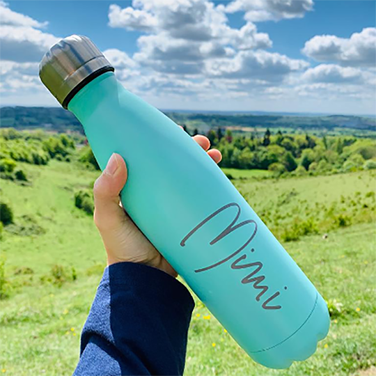 Stainless Steel Water Bottle - Name 16187