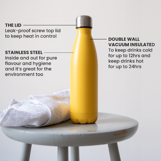 Stainless Steel Water Bottle - Name 16186