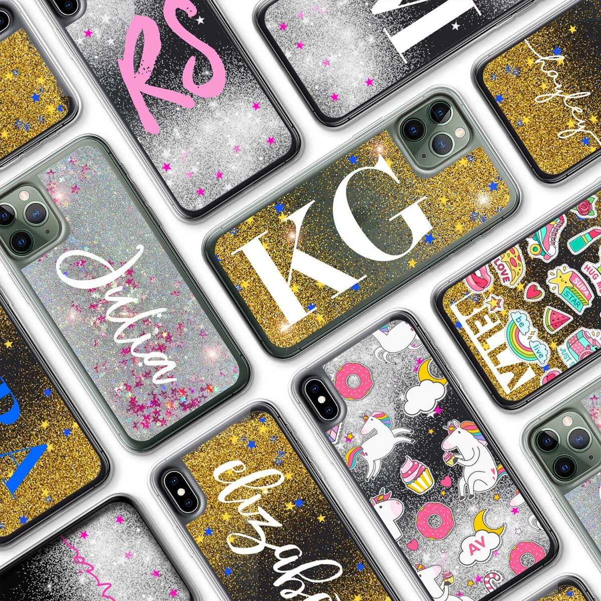 iPhone XS Glitter Case 16134