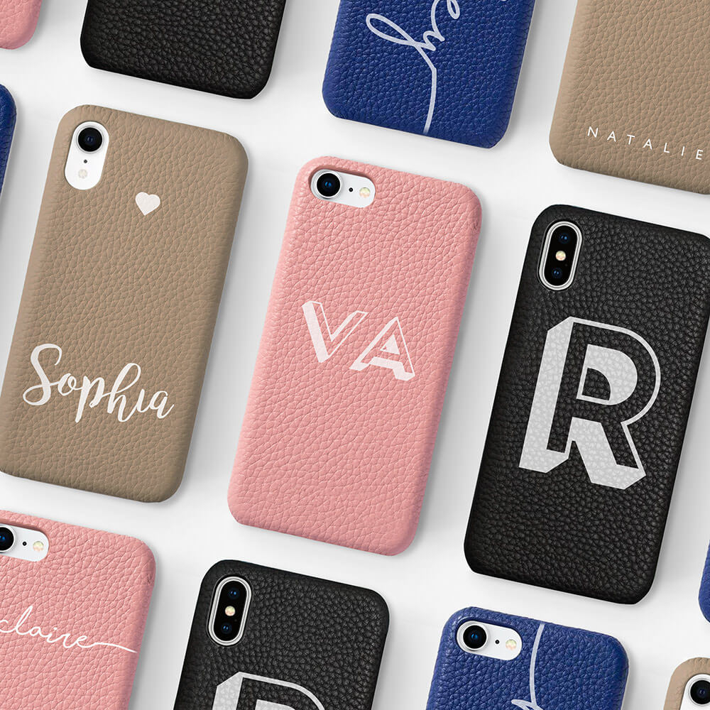 iPhone XR Genuine Leather Printed Case 13859