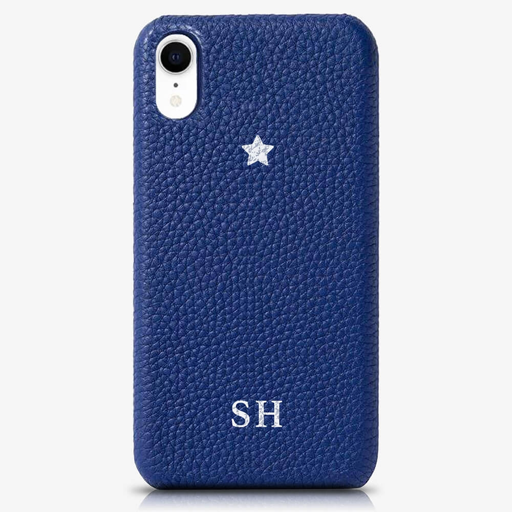 iPhone XS Genuine Leather Monogram Case 14054