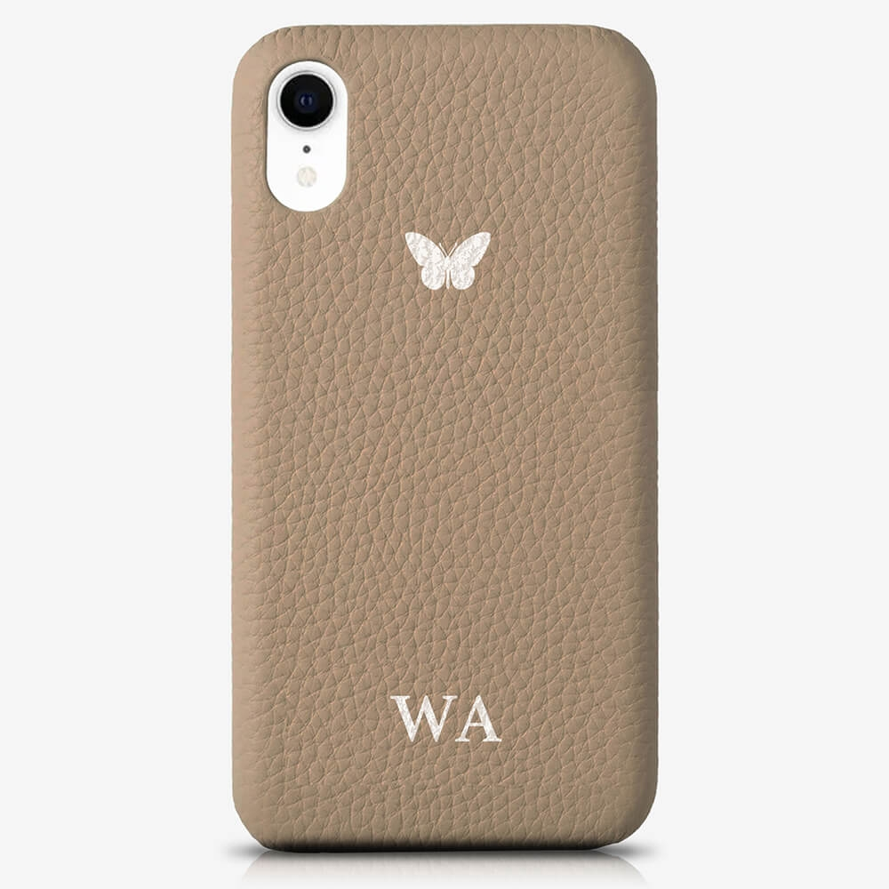 iPhone XR Genuine Leather Monogram Case 14044