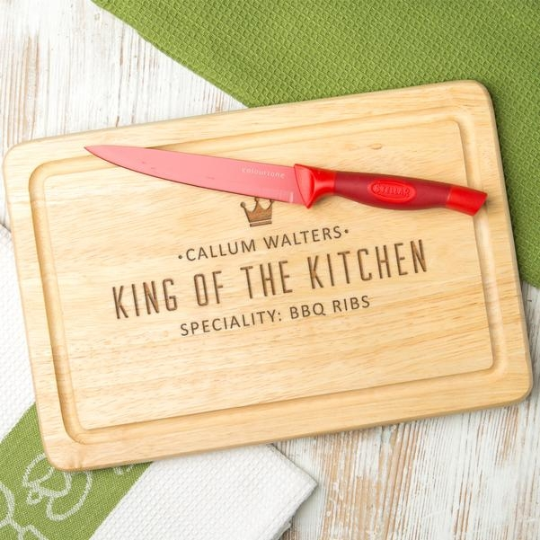 Personalised 'King Of The Kitchen' Chopping Board 14792
