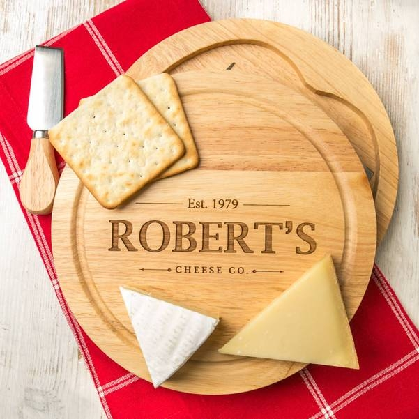 Personalised Vintage Inspired Cheese Board Set 14788