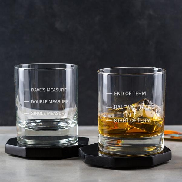 Personalised Whiskey Glass With Measure Lines 13141
