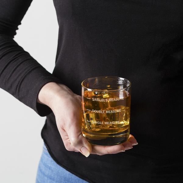 Personalised Whiskey Glass With Measure Lines 13140