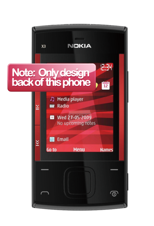 Nokia X3 Skin 3971