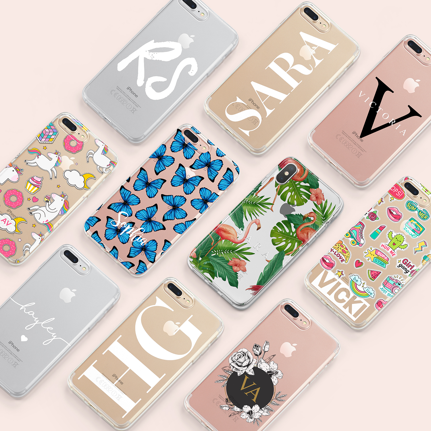 Clear Phone Cases Hard & Soft Gel Designs | Wrappz