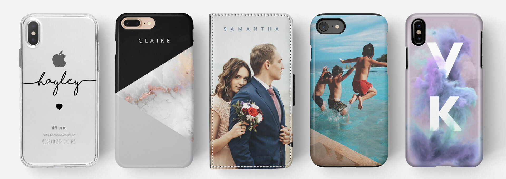 our range of personalised phone cases