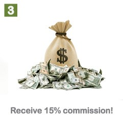 Receive 15% comission!