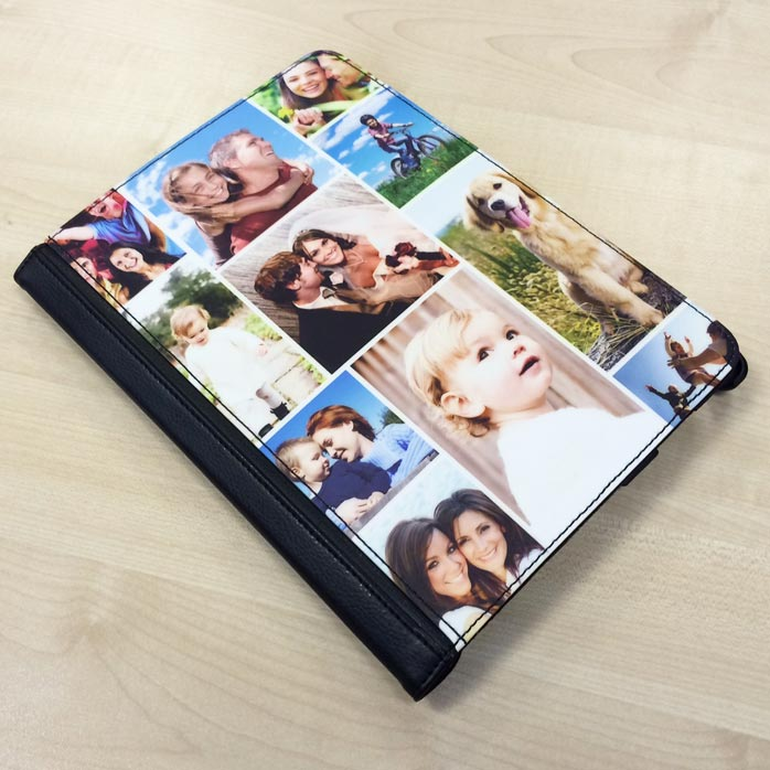 iPad 2/3/4 Faux Leather Swivel Case - Upload Your Own Images & Text