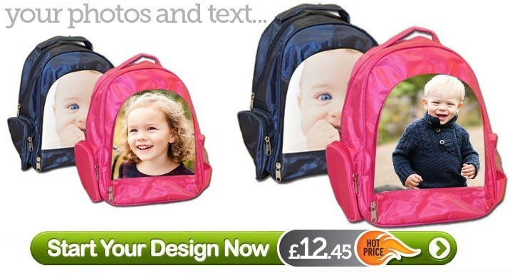 cceae2358b2d Personalised Kids Backpacks - Design your Own
