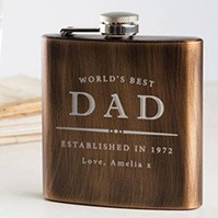 Personalised Hip Flask For Dad